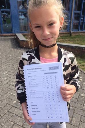 fiere de ma petite princesse ;) 81,8% suuuuuuper go en 6 eme en septembre