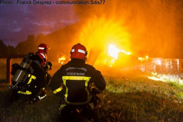 nos amis pompiers au travail