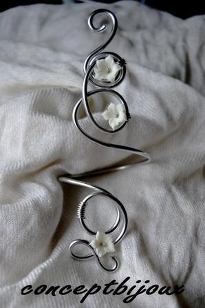 parure doble fleurs porcelaine
