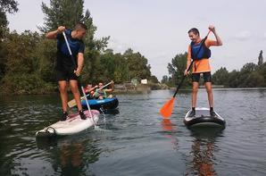 G1 des 2PRO NJPF : Kayak, canoë 2 places et stand up paddle sur l'adour à Bours
