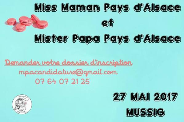 Inscription Miss Maman et Mister Papa2017