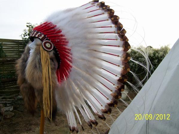 coiffe indienne de chef