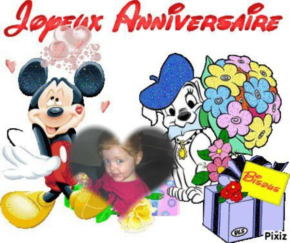 juana nous te souhaitons un joyeux anniversaire pour tes 3 ans on t'aime très fort mèmè pèpè