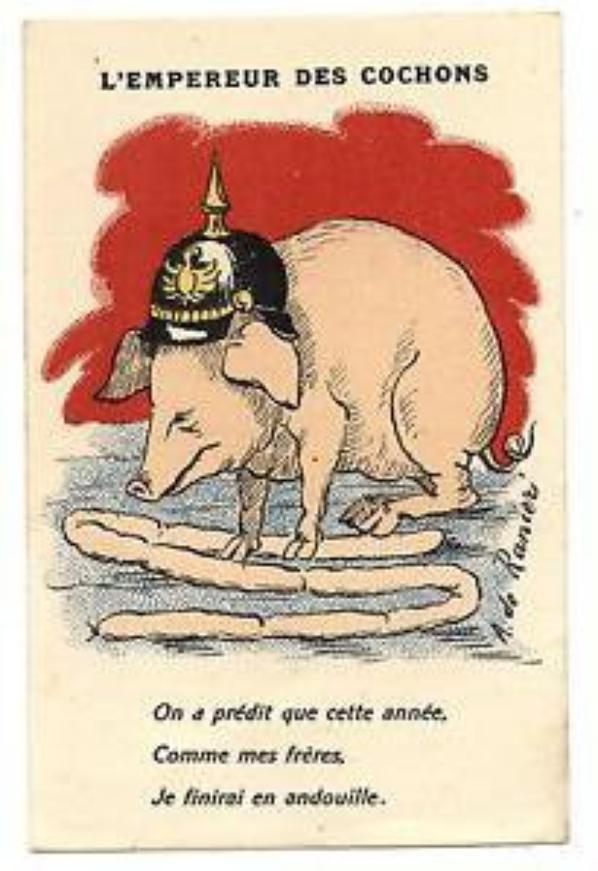 briquet caricatural tête de cochon