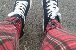 Chemise et grosses chaussettes