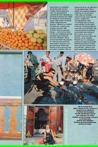 Article de presse  - Salut! du 30 juillet au 12 aout 1986 -  - En vacances au Maroc avec JEANNE MAS
