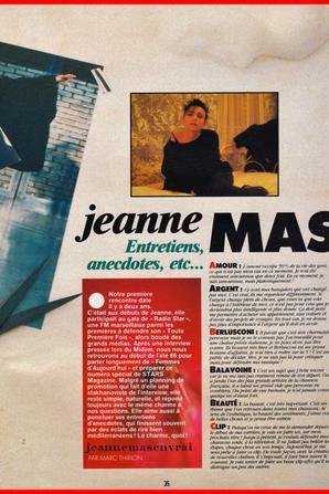 Article de presse - JEANNE MAS de A à Z