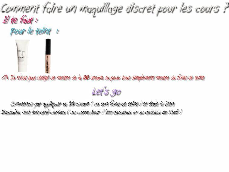 "Un petit tuto make up "" discret """