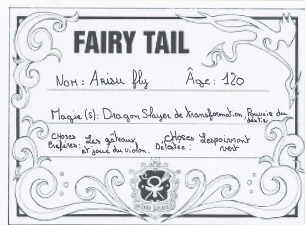 mon personnage Fairy tail ( inventer )