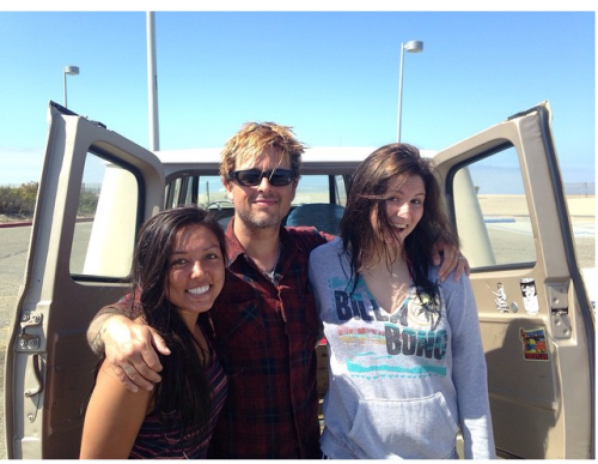 photo récente avec fans :D