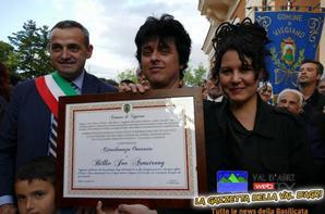 Billie Joe et Adrienne a Viggiano Italie