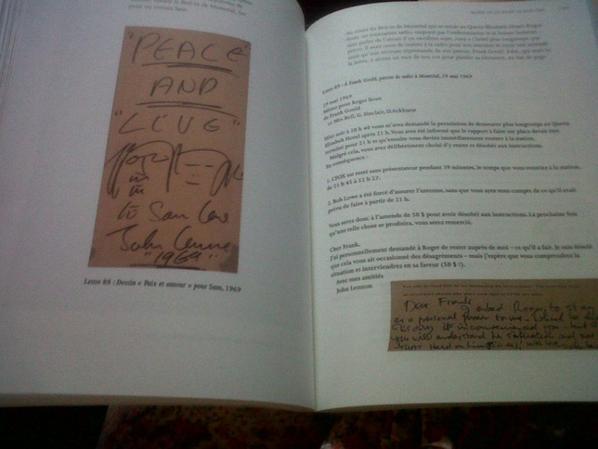 """mon livre """"les lettres de John Lennon"""""""