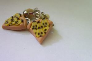 bijoux gourmands: boucles d'oreilles et collier
