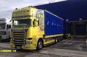 Transport Gervasoni. SCANIA R580. Portes les Valence. Mai 2016.