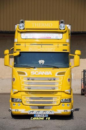 Transport Lauratrans. Scania R520. Charmes sur Rhône. Septembre 2016.