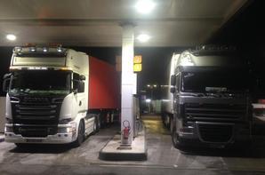 Mon ami Florent avec son Scania R580.