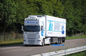 Les Scania V8 en température dirigée.