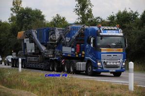 Transport LMS 73 dans la côte de la Pacaudière.