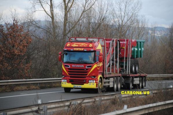 Le transport de bois en Scania.