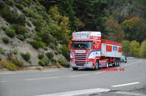 Le plaisirs de croiser la société Belge STB dans le col de la Chavade entre Aubenas et Le Puy.