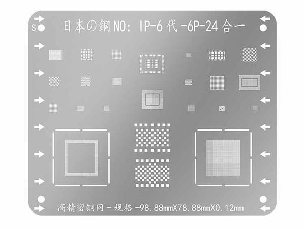 High Quality DIYFIX BGA Reballing Stencils for iPhone 5S 6 6P 6S 7