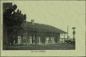 Sidi Hamadouche- Les Trembles : La gare et la mairie.