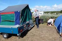 arrive au camping les chardons bleus