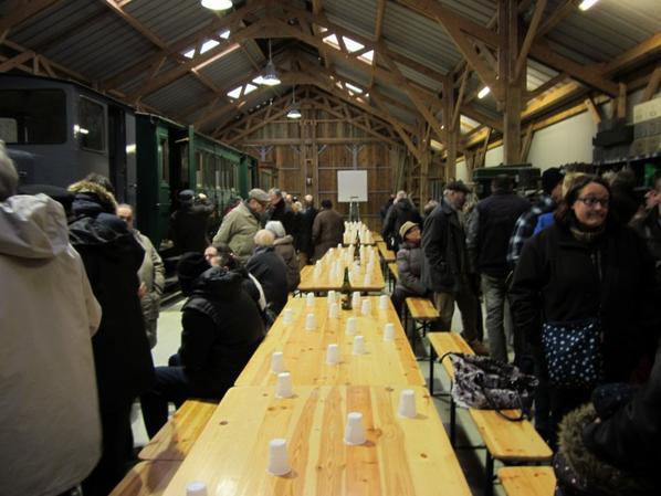galette au Petit Anjou a la nouvelle gare le 04 fevrier