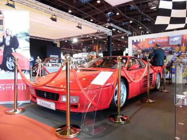 HOMMAGE A JOHNNY HALLYDAY FERRARI 512 TR (1994) EX JOHNNY HALLYDAY AU SALON RETROMOBILE 2018