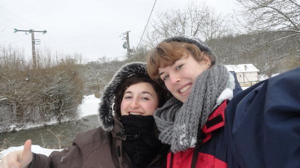 La neige avec Marie  :D