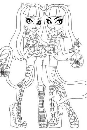 Quelque coloriages monster high