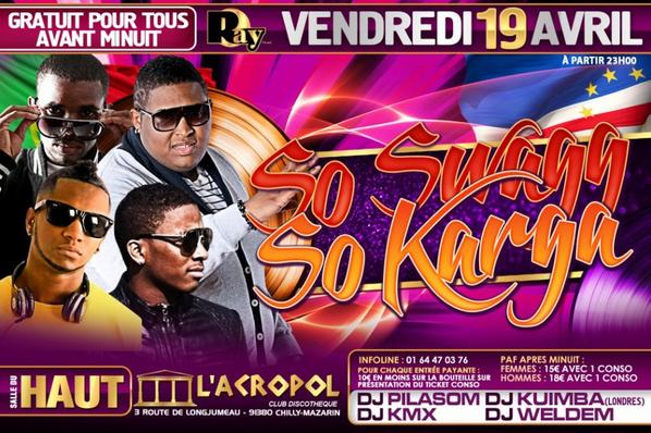 ★ TROPICAL STAR ★ ♪ RIDDLA & STONY ♪ SO SWAGG SO KARGA  ☆☆ VENDREDI 19 AVRIL ☆☆