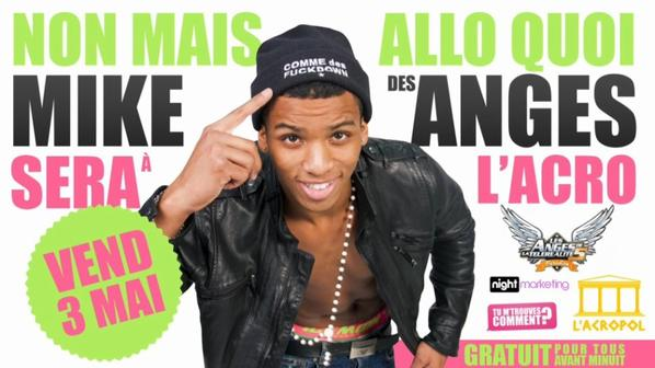 ★ NON MAIS ALLO QUOI ★ ✖ MIKE DES ANGES SERA A L'ACOPOL & LEMBRA TEMPO RETRO PARTY ✖ ☆☆ VENDREDI 3 MAI ☆☆