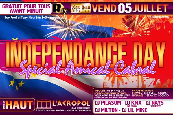 ♦ ZOUK'LA DENGUE &  INDEPENDANCE DAY ♦ A L'ACROPOL