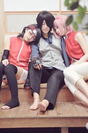 Cosplay: Sasuke and Sakura Family N°01