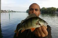 J-F et mon cousin sur plusieurs parties de pêches.
