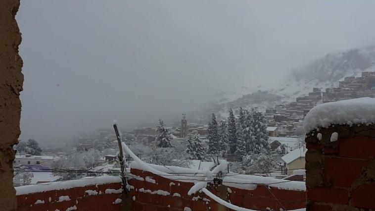 La neige à mon village,hamdo lillah pour tous