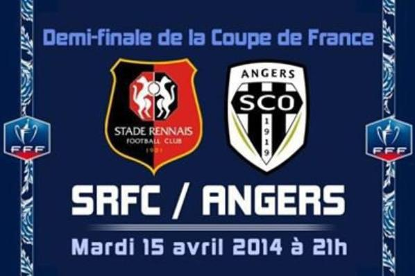 une vitoire sur Rennes 1L  .  ce soir  angers sco . composterait son billet pour le Stade de  France  . 57  ans près sa seule finale -   allez  ANGERS SCO