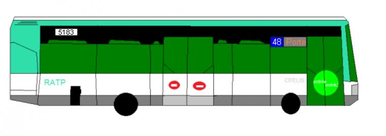 Découpe des lignes de bus RATP 48 et 60