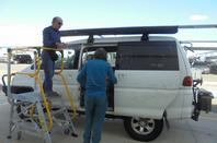 du 14 au 31 juillet  à Perth ;Préparation logistique de notre ''Big Lap''