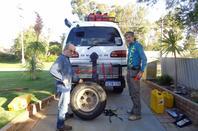 du 14 au 31 juillet  à Perth ;Préparation logistique de notre ''Big Lap'' (photos la suite)