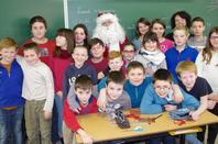 Visite du Père Noël à l'école