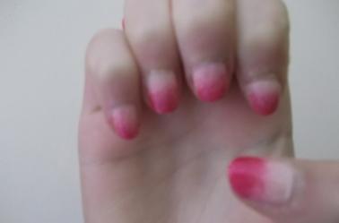 2ème Article : Dégradé blanc+rose.
