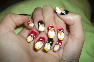 47ème Article : Pingouin rouge et noir