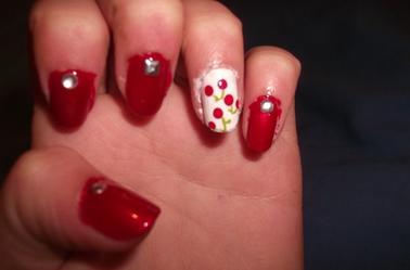 48ème Article : Nail art Cerises.
