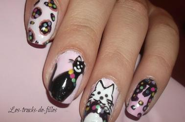106ème Article : Nail art Gato Gateau