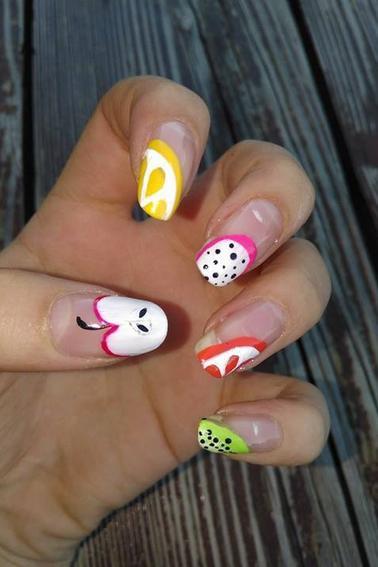 183ème Article : nail art fruité