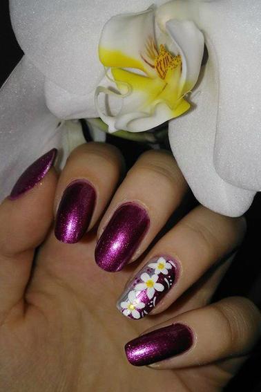 202ème Article : Fleurs blanches sur fond rose&nacré