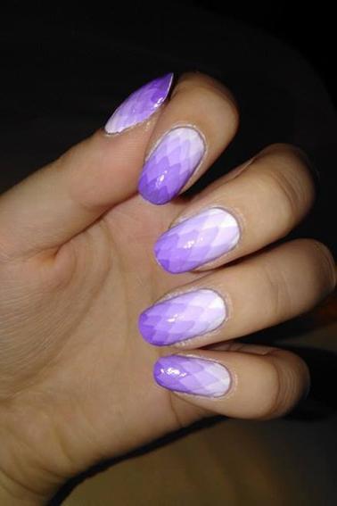 207ème Article : Dégradé losanges violet