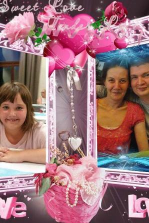 moi et ma fille et mon mari